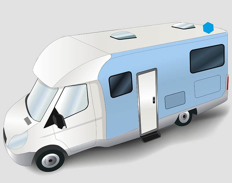 Fibreglass laminates for exterior walls in motorhomes and caravans