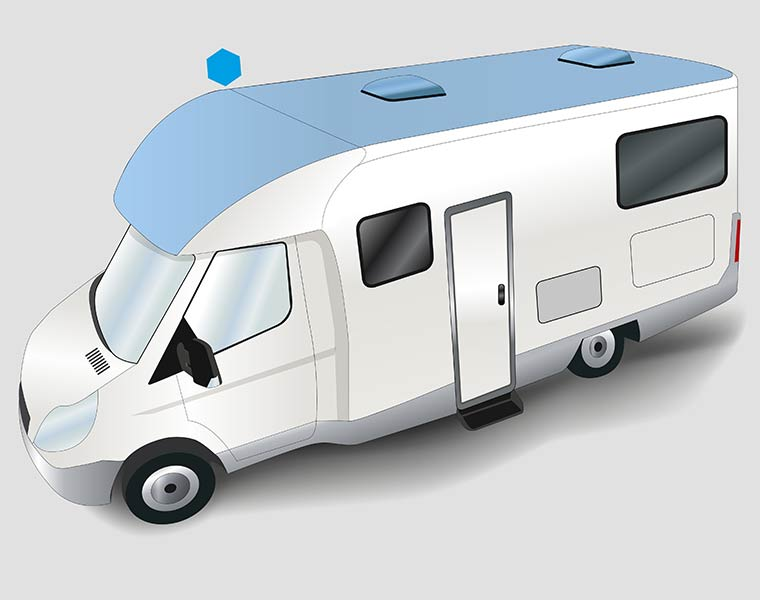 FRP laminates for motorhome and caravan roofs